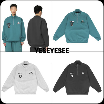 [YESEYESEE] ★韓国大人気★Patched Half Zip Up