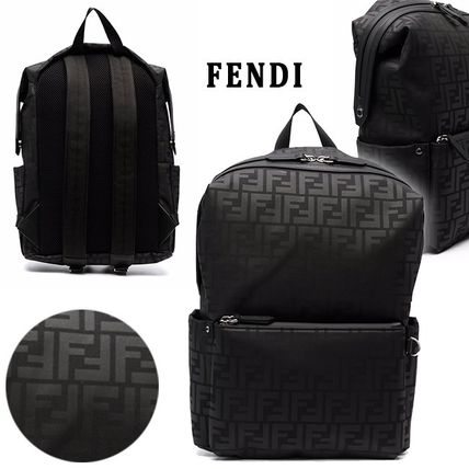 FENDI FFモノグラムプリント ナイロン製 キッズ バックパック