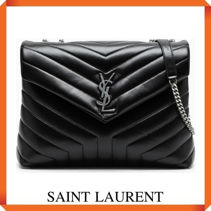 """SAINT LAURENT LOULOU MEDIUM IN QUILTED """"Y"""" LEATHER"""